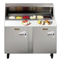 Traulsen UPT4812-LL 48 inch Standard Top Sandwich / Salad Prep Refrigerator with Left Hinged Doors