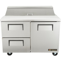 True TSSU-48-12D-2 48 inch One Door, Two Drawer Sandwich / Salad Prep Refrigerator