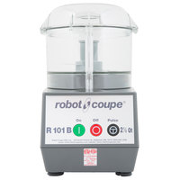Robot Coupe R101BCLR Food Processor with 2.5 Qt. Clear Polycarbonate Bowl - 3/4 hp
