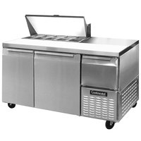 Continental Refrigerator CRA60-10 60 inch 2 Door 1 Half Door Refrigerated Sandwich Prep Table