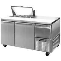 Continental Refrigerator CRA60-8 60 inch 2 Door 1 Half Door Refrigerated Sandwich Prep Table