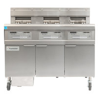 Frymaster FPGL330-2RCA Natural Gas Floor Fryer with Two Full Left Frypots / One Right Split Pot and Automatic Top Off - 225,000 BTU