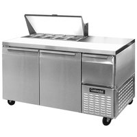 Continental Refrigerator CRA68-10 68 inch 2 Door 1 Half Door Refrigerated Sandwich Prep Table