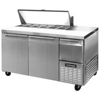 Continental Refrigerator CRA68-12 68 inch 2 Door 1 Half Door Refrigerated Sandwich Prep Table