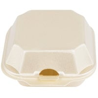Genpak 22400-SES 5 1/8 inch x 5 3/16 inch x 2 3/4 inch Sesame Medium Foam Hinged Lid Sandwich Container - 125/Pack