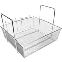 Pitco P6072180 17 1/2 inch x 16 3/4 inch x 5 3/4 inch Full Size Fryer Basket with Two Side Handles and Front Hook