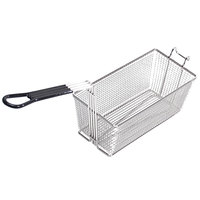 Pitco A4500305 13 1/4 inch x 8 1/2 inch x 5 3/4 inch Twin Fryer Basket with Front Hook
