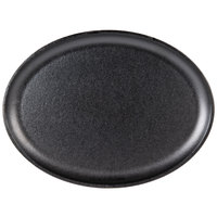 Lodge LJOSH3 13 7/8 inch x 10 inch Oval Pre-Seasoned Jumbo Serving Griddle