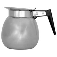 Bunn 06026.0000 64 oz. Stainless Steel Coffee Decanter with Black Handle