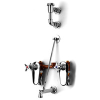 T&S B-0695-ST Concealed Mixing Valve with Garden Hose Spout, Integral Stops, and Elevated Vacuum Breaker