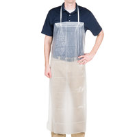 48 inch x 36 inch Clear Vinyl Dishwashing Apron - 10/Pack