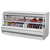Turbo Air TCDD-96-4-L 96 inch White Low Profile Curved Glass Refrigerated Deli Case