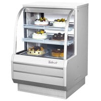 Turbo Air TCGB-36-2 White 36 inch Curved Glass Refrigerated Bakery Display Case