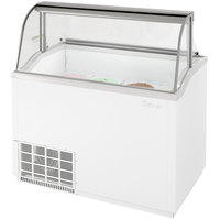 Turbo Air TIDC-47W 47 inch Low Curved Glass Ice Cream Dipping Cabinet