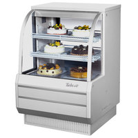 Turbo Air TCGB-36-DR White 36 inch Curved Glass Dry Bakery Display Case