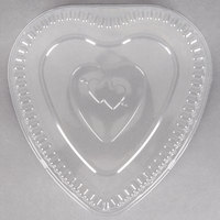 Durable Packaging P9701V Clear Dome Lid for Heart Shaped Foil Bake Pan - 10/Pack