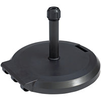 Grosfillex US608402 84 lb. Charcoal Freestanding Umbrella Base with Wheels