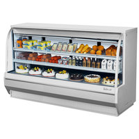 Turbo Air TCDD-96-4-H 96 inch White Curved Glass Refrigerated Deli Case