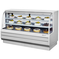 Turbo Air TCGB-72-2 White 72 inch Curved Glass Refrigerated Bakery Display Case