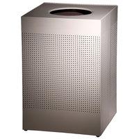 Rubbermaid SC22E Silhouettes Desert Pearl Steel Designer Waste Receptacle - 50 Gallon (FGSC22EPLDP)