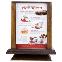 Menu Solutions WTS-4S7-WAL 5 inch x 7 inch Walnut Four Sided Rotating Wood Table Tent