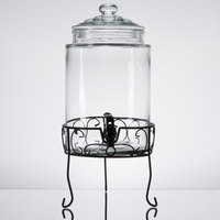 Core 1.75 Gallon Glass Beverage Dispenser with Metal Stand