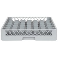 Noble Products 49-Compartment Gray Full-Size Glass Rack - 19 3/8 inch x 19 3/8 inch x 4 inch