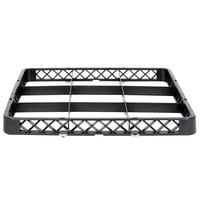 Noble Products 9-Compartment Black Full-Size Glass Rack / Decanter Rack Extender - 19 3/8 inch x 19 3/8 inch x 1 3/4 inch