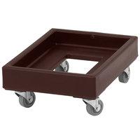 Cambro CD1420131 350 lb. Dark Brown Camdolly Milk Crate Dolly