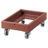 Cambro CD1420131 350 lb. Dark Brown Camdolly Milk Crate Dolly