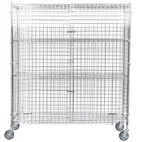 Regency NSF Mobile Chrome Wire Security Cage Kit - 18 inch x 60 inch x 69 inch