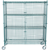 """Regency NSF Mobile Green Wire Security Cage Kit - 18"""" x 60"""" x 69"""""""