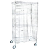Regency NSF Mobile Chrome Wire Security Cage Kit - 24 inch x 36 inch x 69 inch