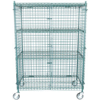 """Regency NSF Mobile Green Wire Security Cage Kit - 24"""" x 48"""" x 69"""""""