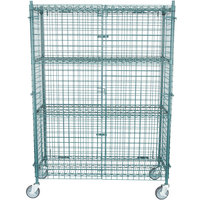 """Regency NSF Mobile Green Wire Security Cage Kit - 18"""" x 48"""" x 69"""""""
