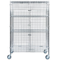 Regency NSF Mobile Chrome Wire Security Cage Kit - 24 inch x 48 inch x 69 inch