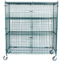"""Regency NSF Mobile Green Wire Security Cage Kit -24"""" x 60"""" x 69"""""""