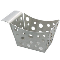 Tablecraft SCB 5 1/2 inch x 3 1/4 inch x 3 inch Stamped Circles Stainless Steel Side Basket