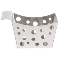 Tablecraft SCB 5 1/2 inch x 3 1/4 inch x 3 inch Stamped Circle Stainless Steel Side French Fry Basket