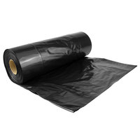 Lavex Industrial Contractor Trash Bag 33 Gallon 2.5 Mil 33 inch x 39 inch Low Density Can Liner - 100/Case