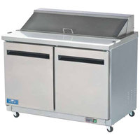 Arctic Air AST48R 48 inch 2 Door Refrigerated Sandwich Prep Table