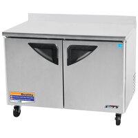 Turbo Air TWR-48SD 48 inch Super Deluxe Two Door Worktop Refrigerator - 12 Cu. Ft.