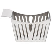 Tablecraft SPB 5 1/2 inch x 3 1/4 inch x 3 inch Stamped Pinstriped Stainless Steel Side French Fry Basket