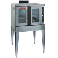 Blodgett DFG-100-ES Premium Series Natural Gas Single Deck Full Size Convection Oven with Draft Diverter - 45,000 BTU