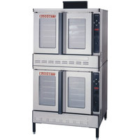 Blodgett DFG-100-ES Premium Series Natural Gas Double Deck Full Size Convection Oven with Draft Diverter- 90,000 BTU