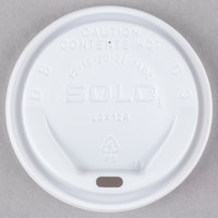 Dart Solo LGXW2-0007 The Gourmet Lid White Hot Cup Lid - 1500/Case