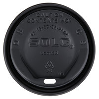 Dart Solo LGXBK2-0004 The Gourmet Lid Black Hot Cup Lid - 1500/Case