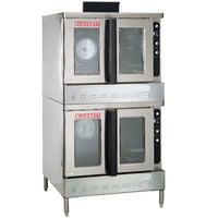 Blodgett DFG-200-ES Premium Series Liquid Propane Double Deck Full Size Bakery Depth Convection Oven with Draft Diverter - 100,000 BTU
