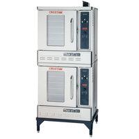 Blodgett DFG-50 Premium Series Liquid Propane Double Deck Half Size Convection Oven with Draft Diverter - 54,000 BTU