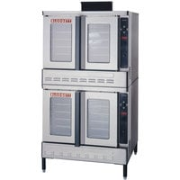 Blodgett DFG-100-ES Premium Series Double Deck Full Size Gas Convection Oven with Draft Diverter- 90,000 BTU